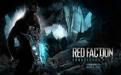 Red Faction Armageddon Game Poster by F S