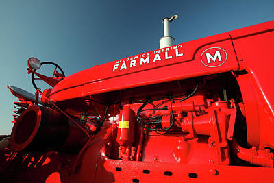 Red Farmall M Poster by Todd Klassy