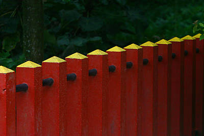 Red Fence Poster