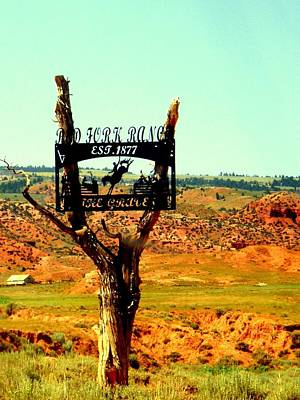 Poster featuring the photograph Red Fork Ranch by Antonia Citrino