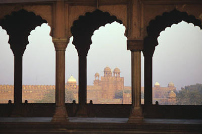Red Fort From The Jama Masjid Poster by Gloria and Richard Maschmeyer - Printscapes