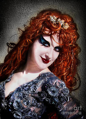 Red Hair, Gothic Mood. Model Sofia Metal Queen Poster by Sofia Metal Queen