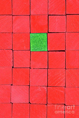 Red Handicraft Cubes Poster by George Atsametakis
