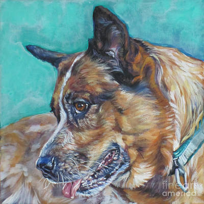 Red Heeler Australian Cattle Dog Poster
