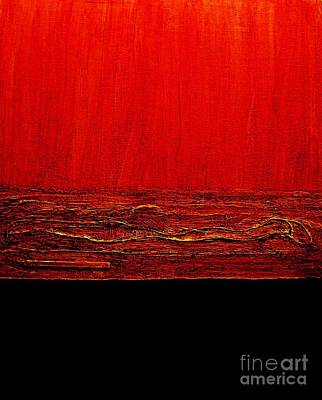 Red Hot Abstract Poster
