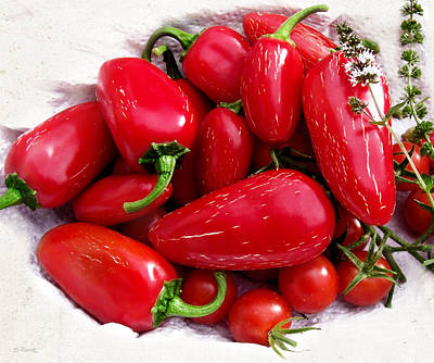 Poster featuring the photograph Red Hot Jalapeno Peppers by Shawna Rowe