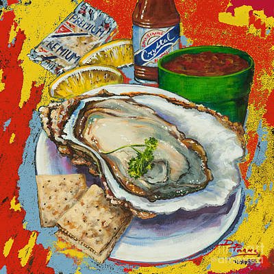 Red Hot Oyster Poster by Dianne Parks