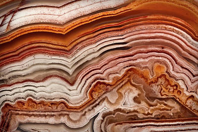 Red Laguna Lace Agate Poster