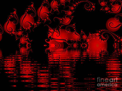 Red Lake Cave Fractal Poster
