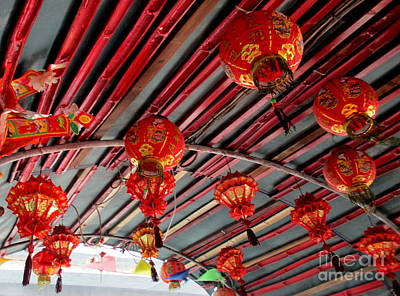 Poster featuring the photograph Red Lanterns 1 by Randall Weidner