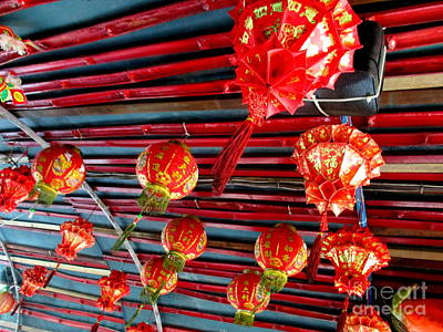 Poster featuring the photograph Red Lanterns 3 by Randall Weidner