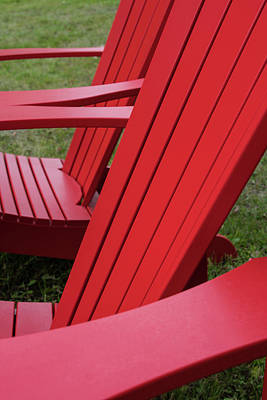 Red Lawn Chair Poster