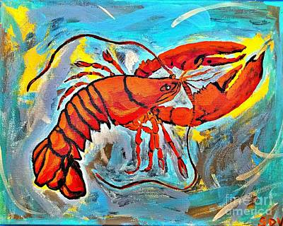 Red Lobster Abstract  Poster by Scott D Van Osdol