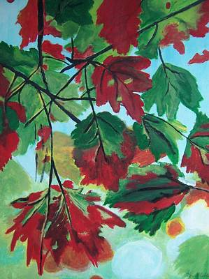 Poster featuring the painting Red Maple by Krista Ouellette