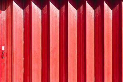 Red Metal Door Poster