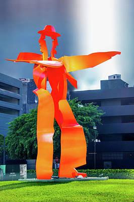 Red Metal Sculpture Poster by Art Spectrum