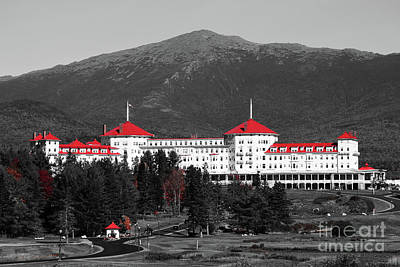 Red Mount Washington Resort Poster by Patti Whitten