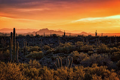 Poster featuring the photograph Red Mountain Sunset Part Two  by Saija Lehtonen