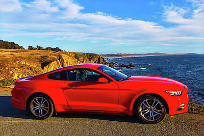 Red Mustang Sonoma Coast 2 Poster by Garry Gay