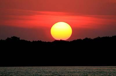 Red Myakka Sunset Poster
