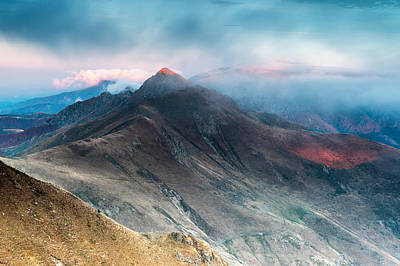 Red Peak Poster by Evgeni Dinev