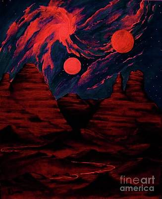 Red  Planet Poster by Diana Dearen