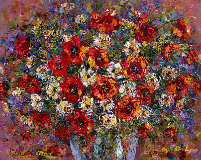 Red Poppies Bouquet Poster