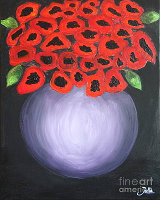 Poster featuring the painting Red Poppies  by Jolanta Anna Karolska