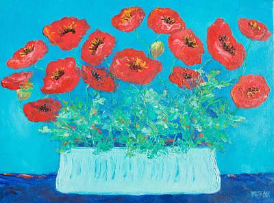 Red Poppies Still Life Poster