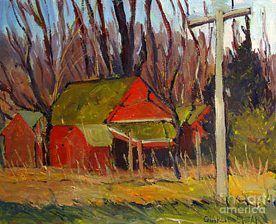 Red Ravens Roost Plein Air Poster by Charlie Spear