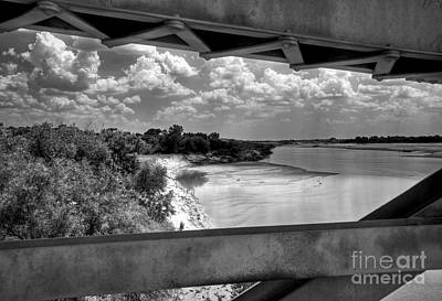 Red River Bridge View Poster by Fred Lassmann
