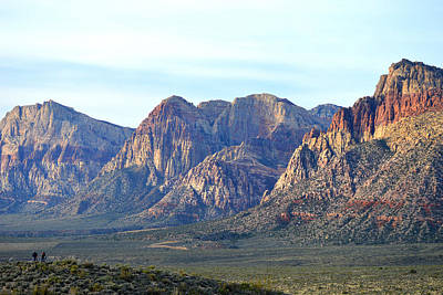 Poster featuring the photograph Red Rock Canyon - Scale by Glenn McCarthy Art and Photography
