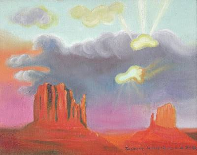 Red Rock Country Poster by Suzanne  Marie Leclair
