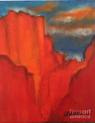 Poster featuring the painting Red Rocks by Kim Nelson