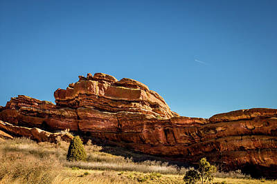 Red Rocks Natural Sculpture Poster by Barry Jones