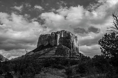 Poster featuring the photograph Red Rocks Sedona Bnw 1 by David Haskett