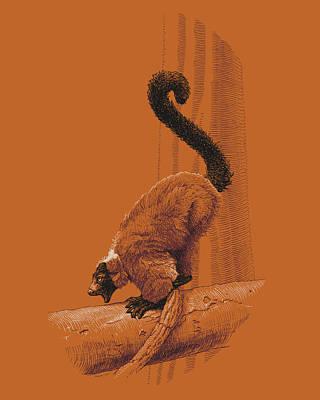 Screaming Lemur Poster