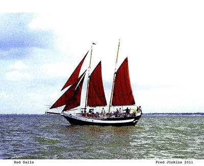 Red Sails Poster by Fred Jinkins