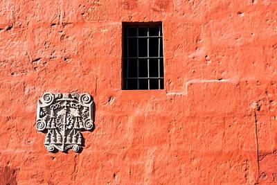 Red Santa Catalina Monastery Wall Poster