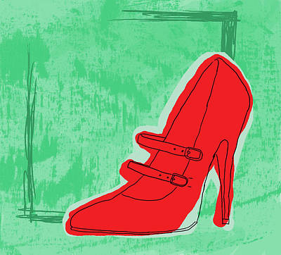 Red Shoe Poster by Darren Leighton