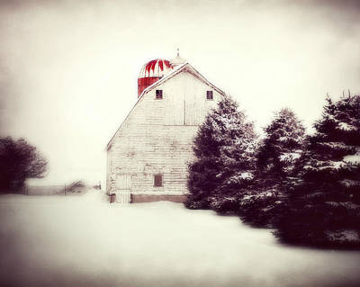 Red Silo Poster by Julie Hamilton