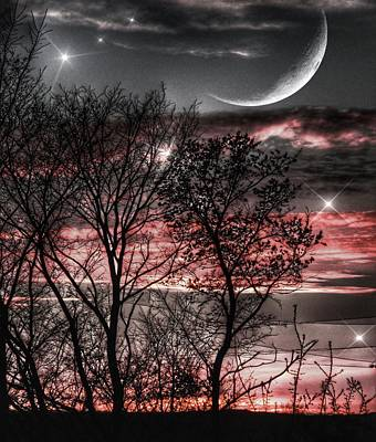 Red Sky Moon Poster