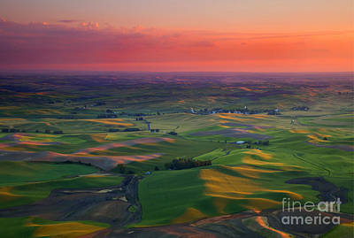 Red Sky Palouse Poster by Mike Dawson