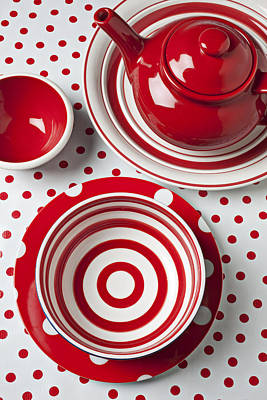 Red Teapot Poster by Garry Gay