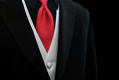 Red Tie Poster by Maria Dryfhout