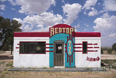 Red Top Diner On Route 66 Poster by Priscilla Burgers