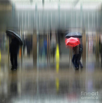 Poster featuring the photograph Red Umbrella by LemonArt Photography
