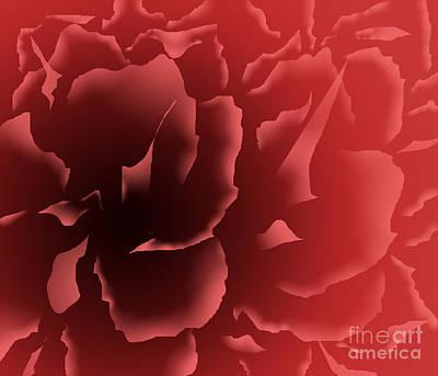 Red Velvet Peony Poster