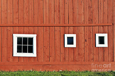 Red Vermont Barn.  Poster by John Greim