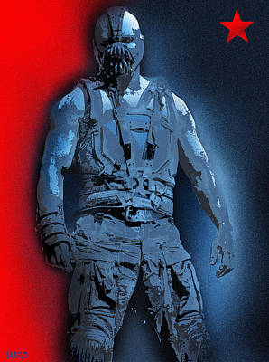 Red White And Bane Poster